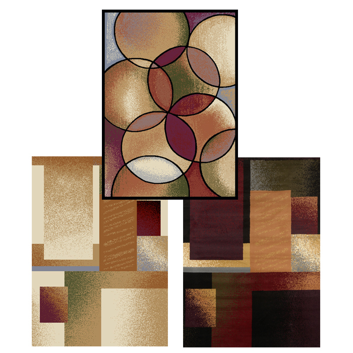 8x11 Modern Area Rugs: Contemporary Geometric Shapes Area Rug 8x11 Modern Carpet