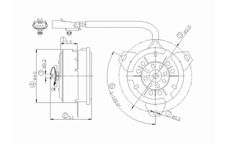 ac condenser radiator cooling fan motor 2001