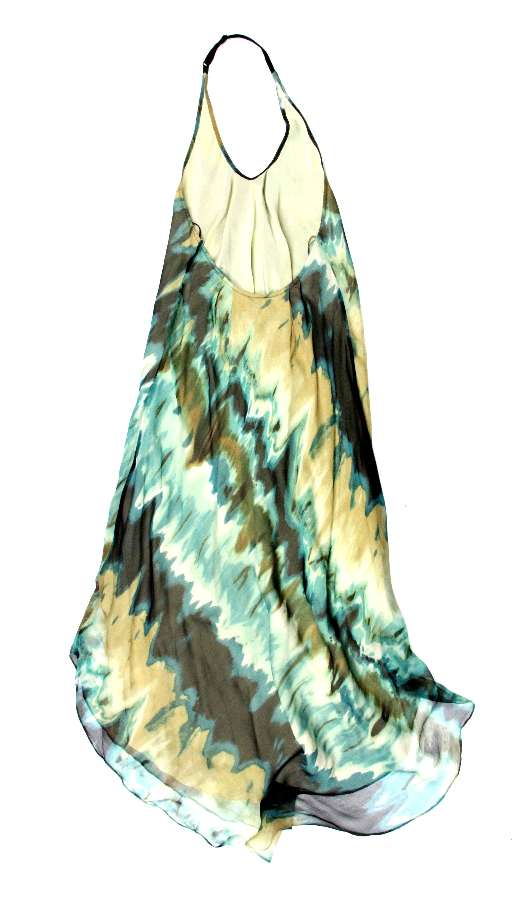 Haute Hippie womens silk backless halter maxi dress $495 New