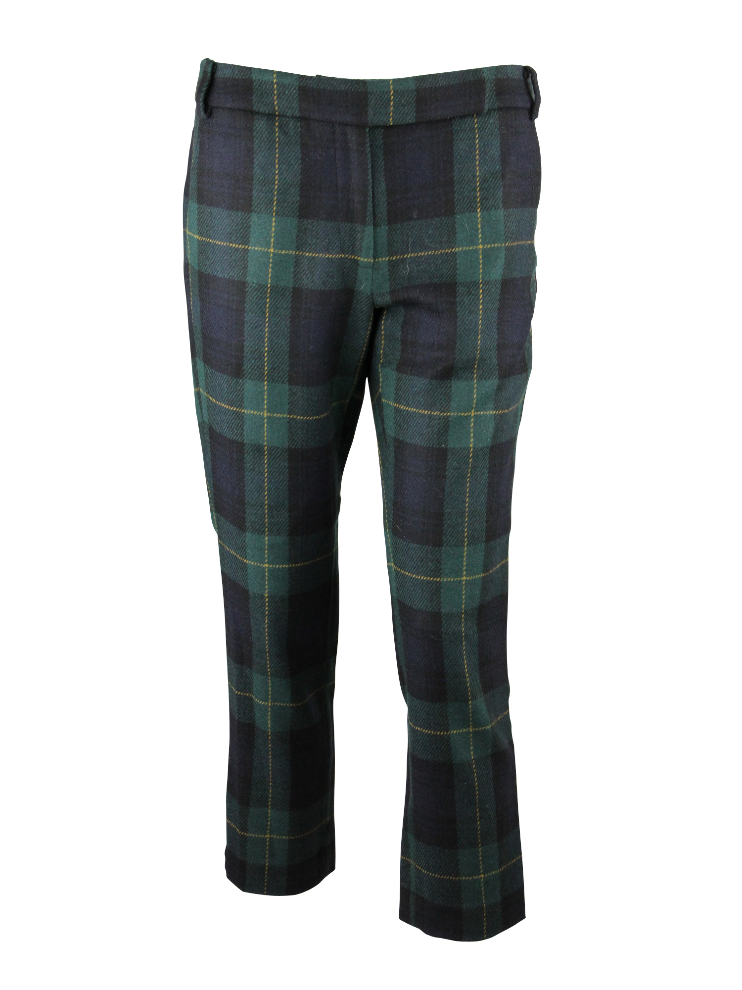 Fantastic Causal Ladies Tartan Pants Plaid Check Pockets Womens Pencil Trousers