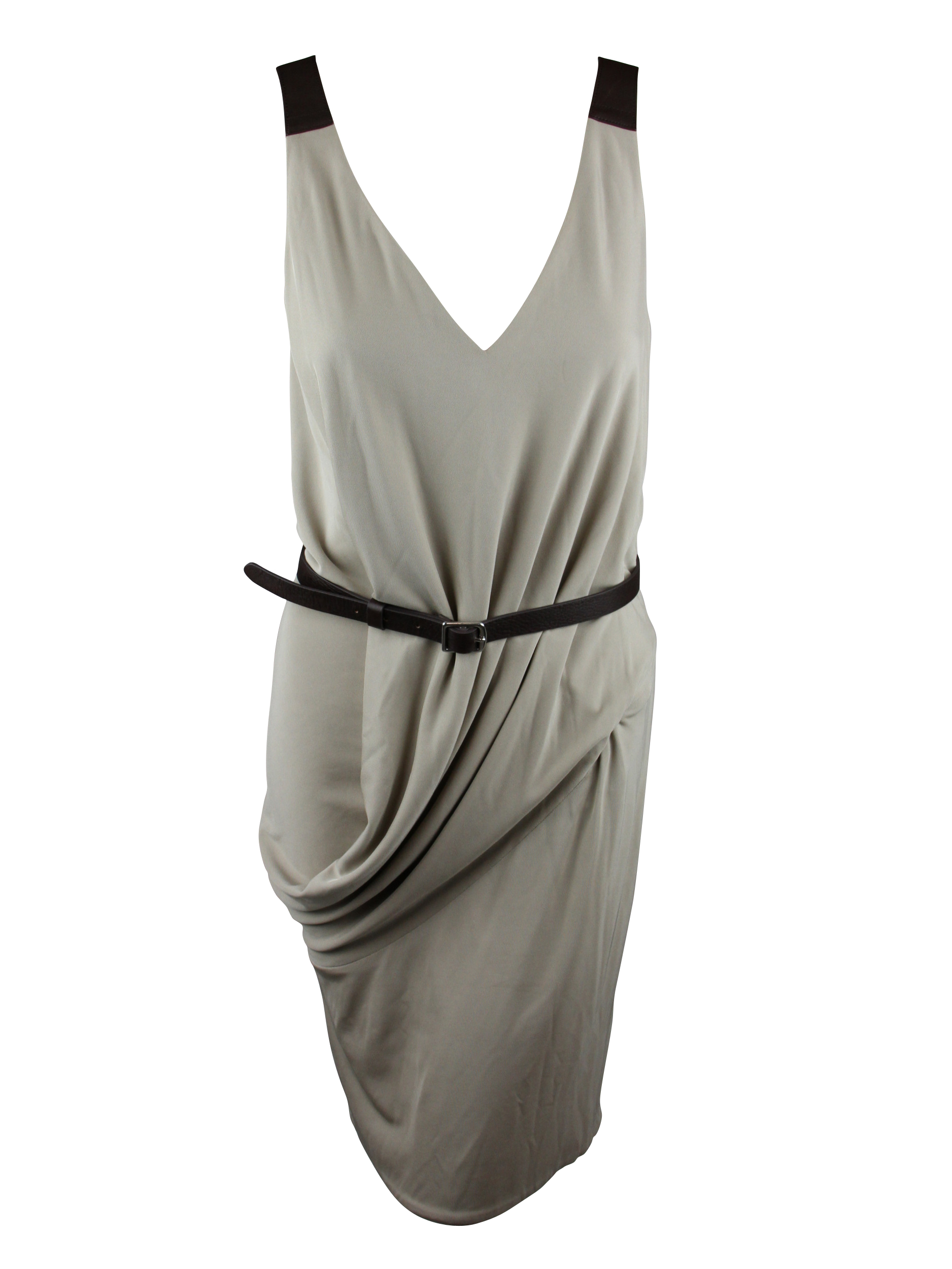 KaufmanFranco Womens Drape Leather Belted Sleeveless Dress at Sears.com