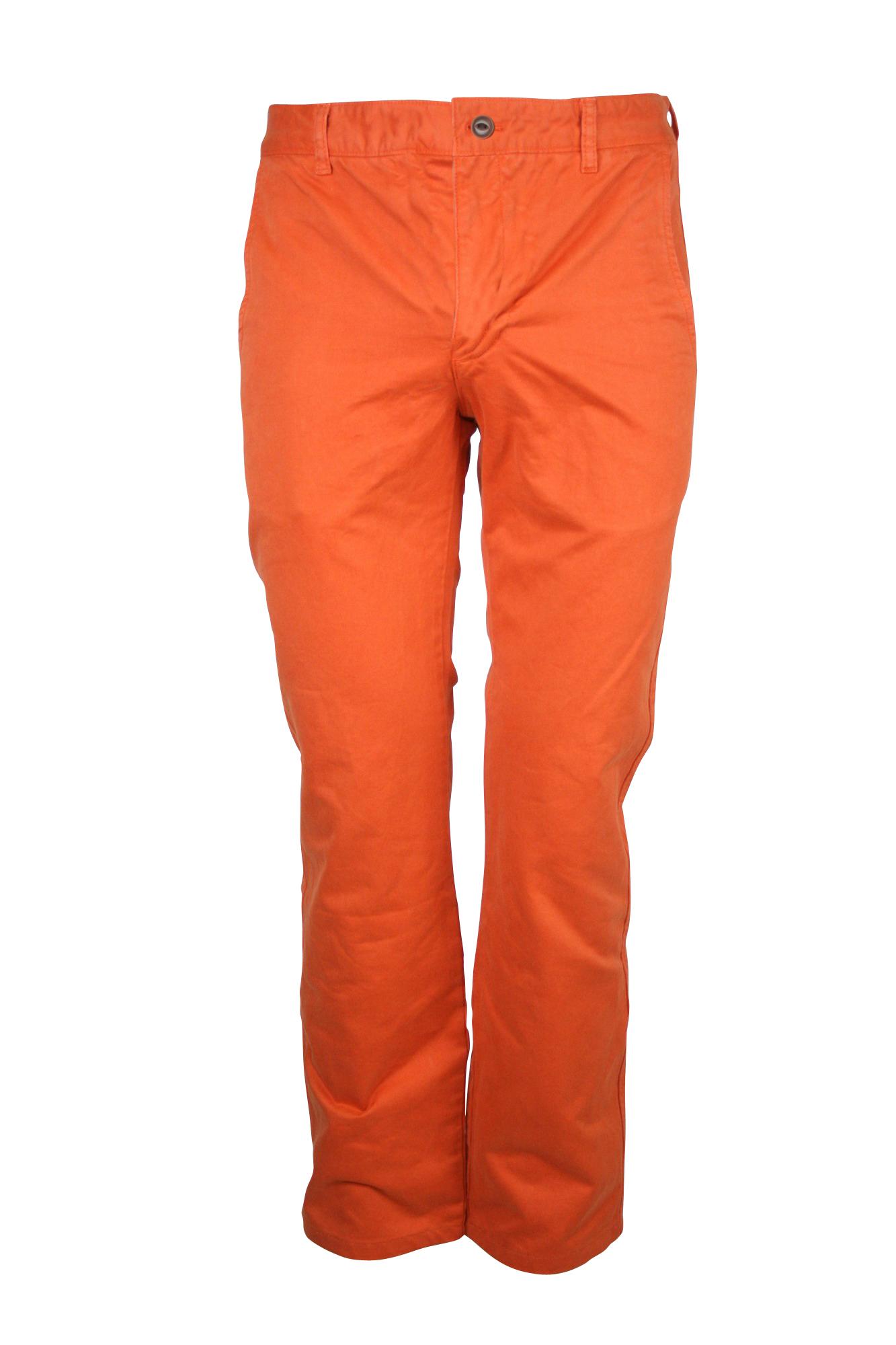 dockers mens orange d1 slim fit flat front cotton twill