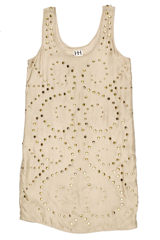 Haute Hippie womens faithfull sleveless studded silk dress $540 new