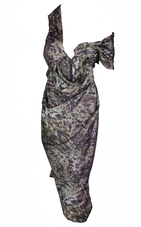 Vivienne-Westwood-Red-Label-womens-camouflage-taffeta-dress-1485-New