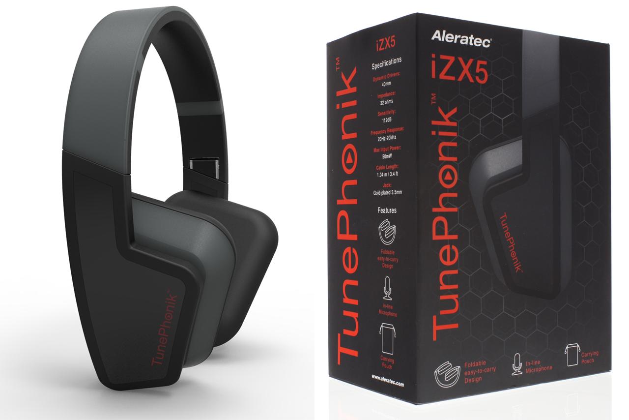 Aleratec TunePhonik iZX5 On-Ear Headphones with Microphone at Sears.com