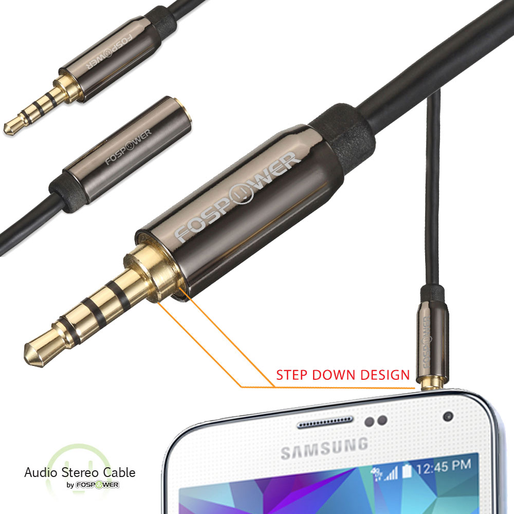 1 8 Quot 3 5mm Male To Female Trrs Stereo Audio Extension