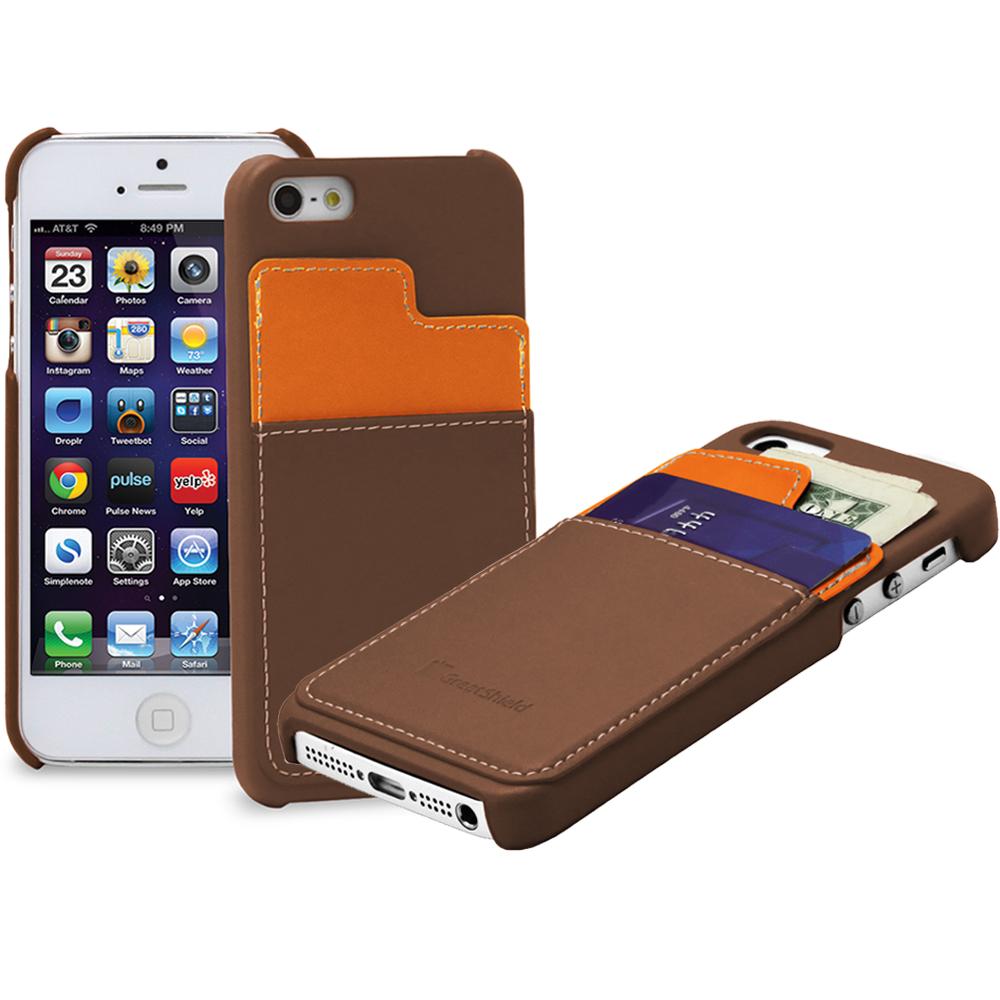 leather card holder pouch hard cover wallet hybrid case. Black Bedroom Furniture Sets. Home Design Ideas