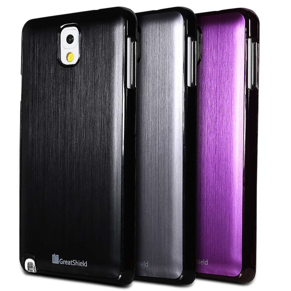 new brushed metal luxury case battery cover for samsung galaxy note 3 iii n9000 ebay. Black Bedroom Furniture Sets. Home Design Ideas