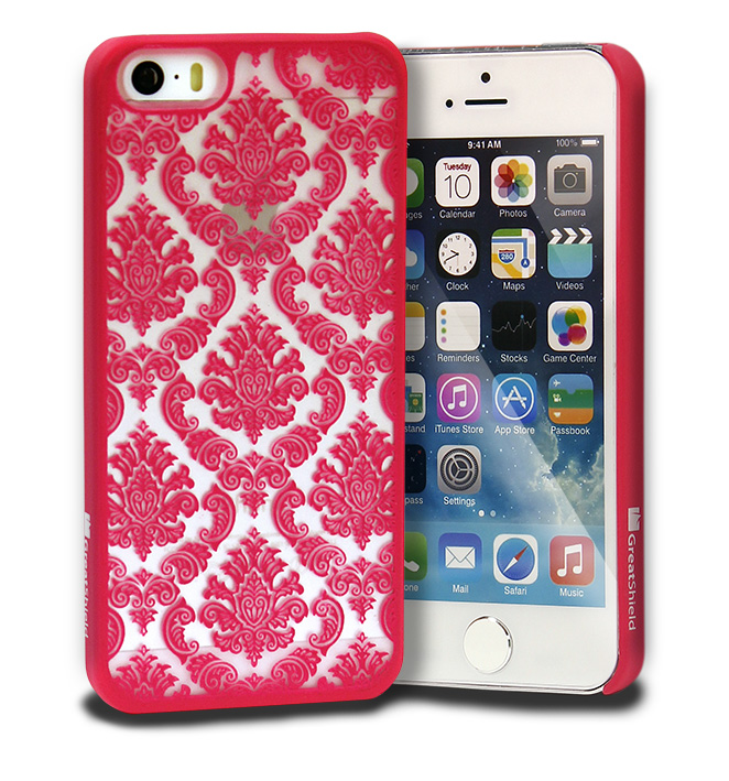 Damask Vintage Pattern Rubber Protector Hard Case Cover For Apple iPhone SE 5S 5