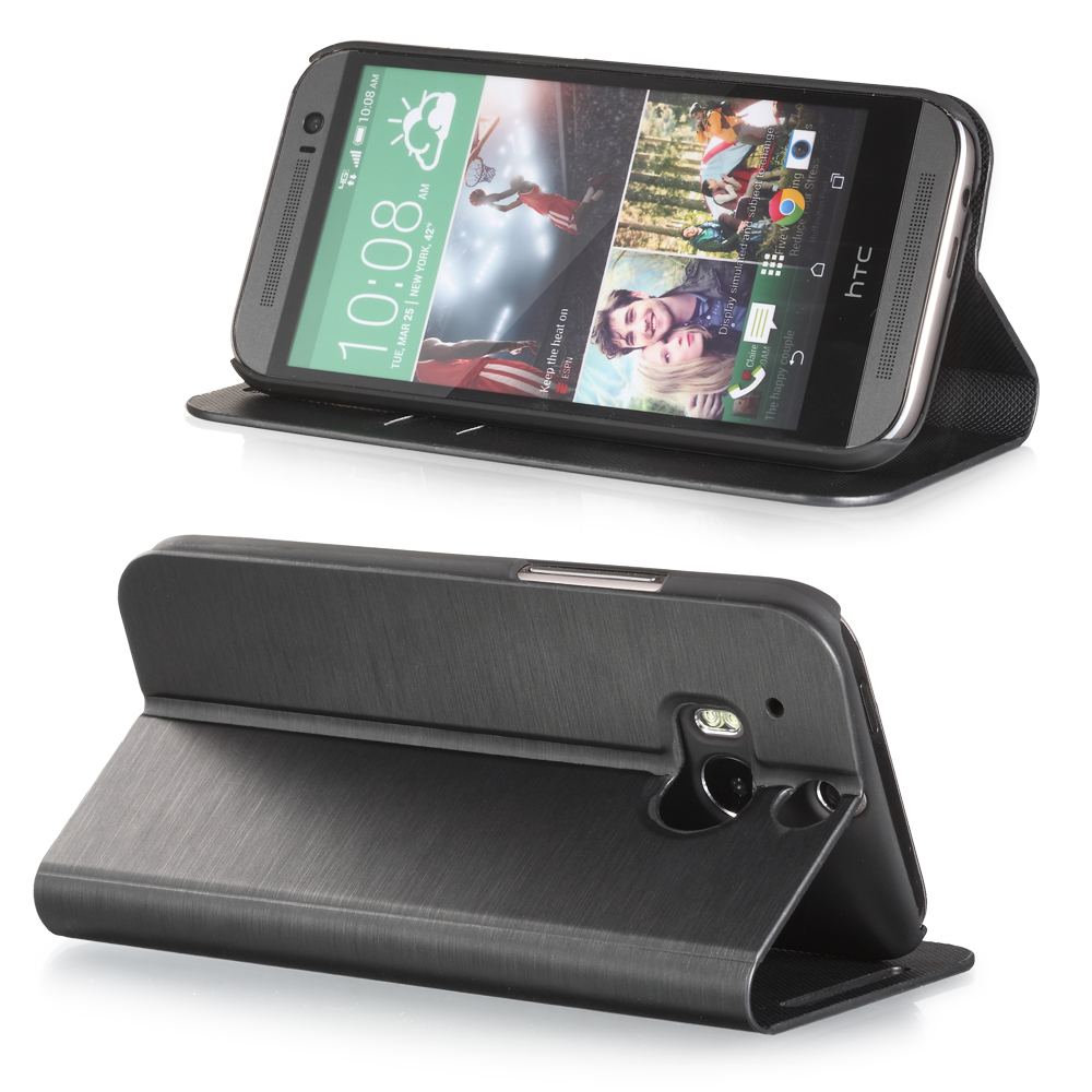Luxury Leather Flip Wallet Folio Case Stand W/Card Slots Accesory for HTC One M8
