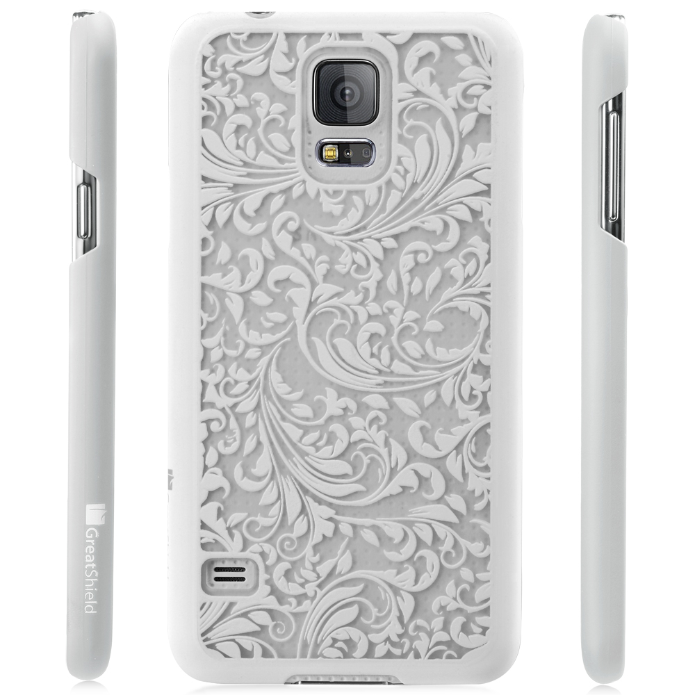 Vintage QUILL Pattern Rubber Slim Hard Case Cover Skin For Samsung Galaxy S5 S V