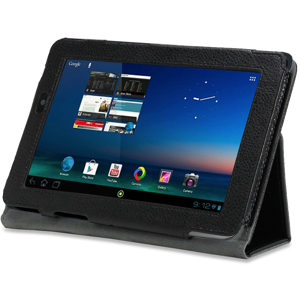 New For Acer Iconia Tab A110 Black PU Leather Folio Stand ...