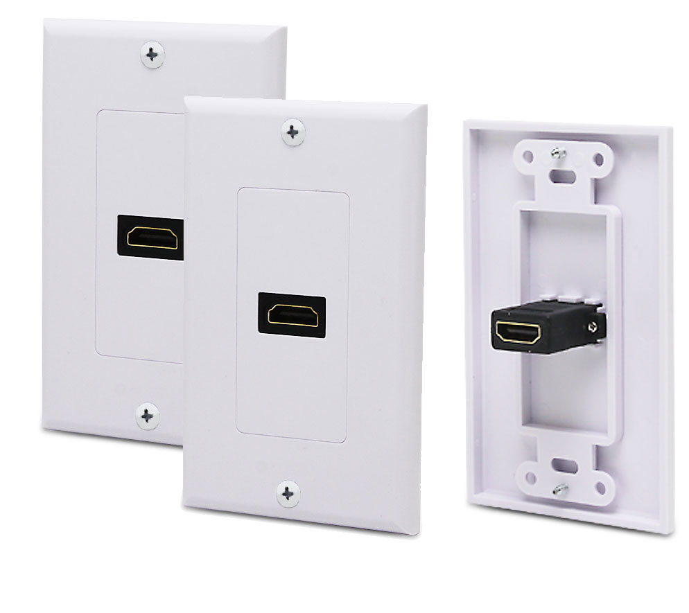 2x hdmi ethernet wall face plate port v1 4 for wii u switch ps3 ps4 xbox 360 one ebay. Black Bedroom Furniture Sets. Home Design Ideas