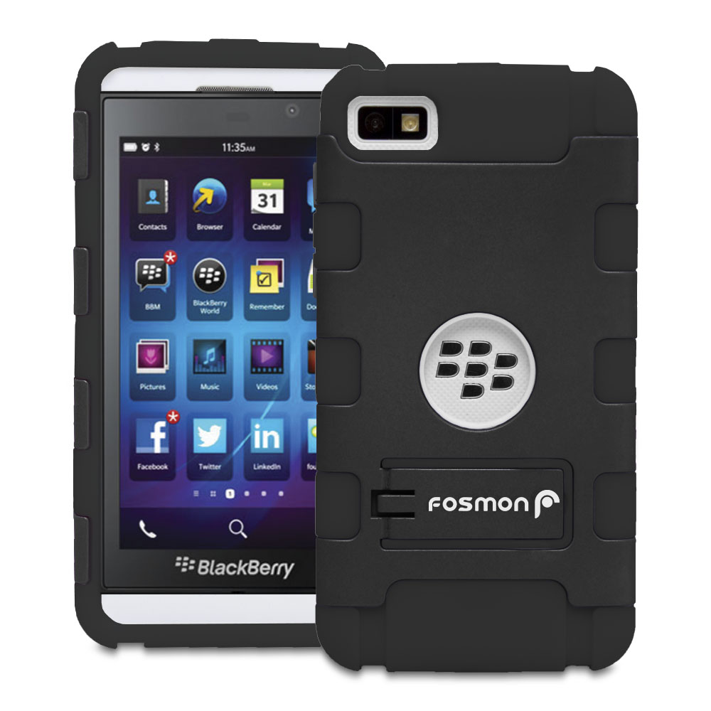 for blackberry z10 colorful rugged armor hybrid hard case cover kick stand film ebay. Black Bedroom Furniture Sets. Home Design Ideas