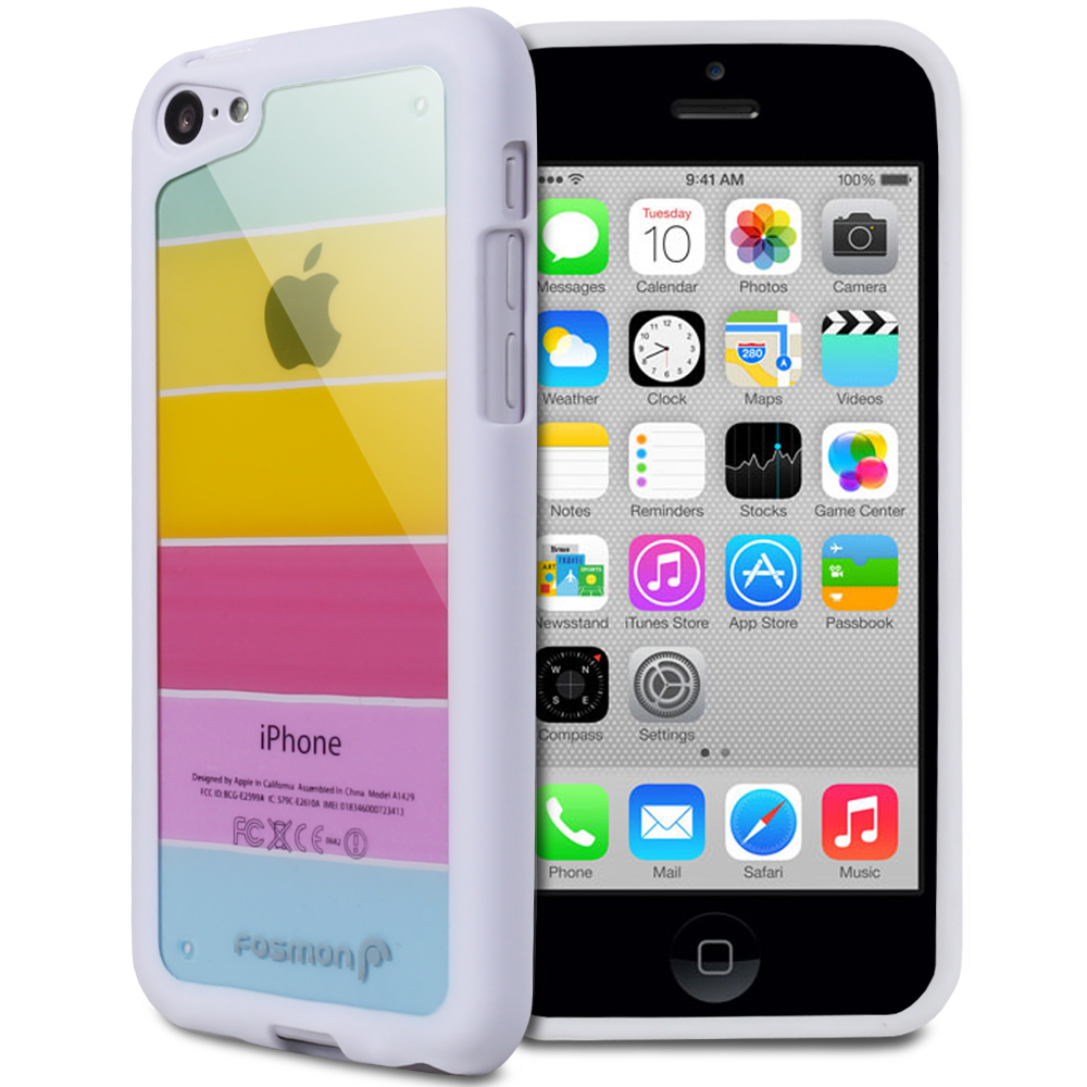 For Apple iPhone 5C Colorful Clear Ultra Hybrid TPU PC Bumper Frame Case Cover