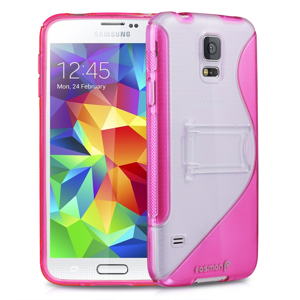New Rugged Hybrid Impact Hard Wave Case Cover w/ Stand For Samsung Galaxy S5 SV