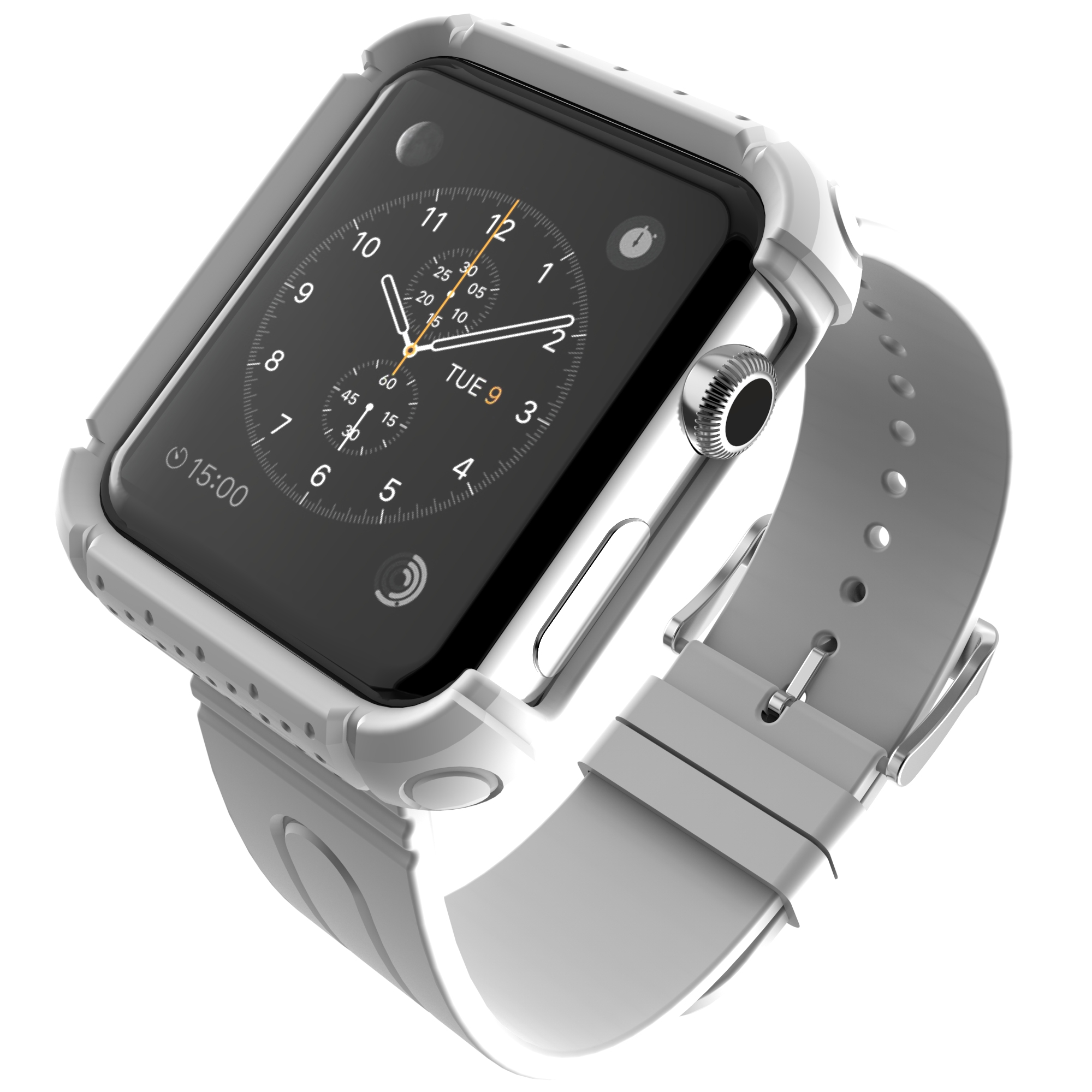 Fosmon for apple watch 38mm durable sport wrist strap bracelet band case cover ebay for Watches 38mm