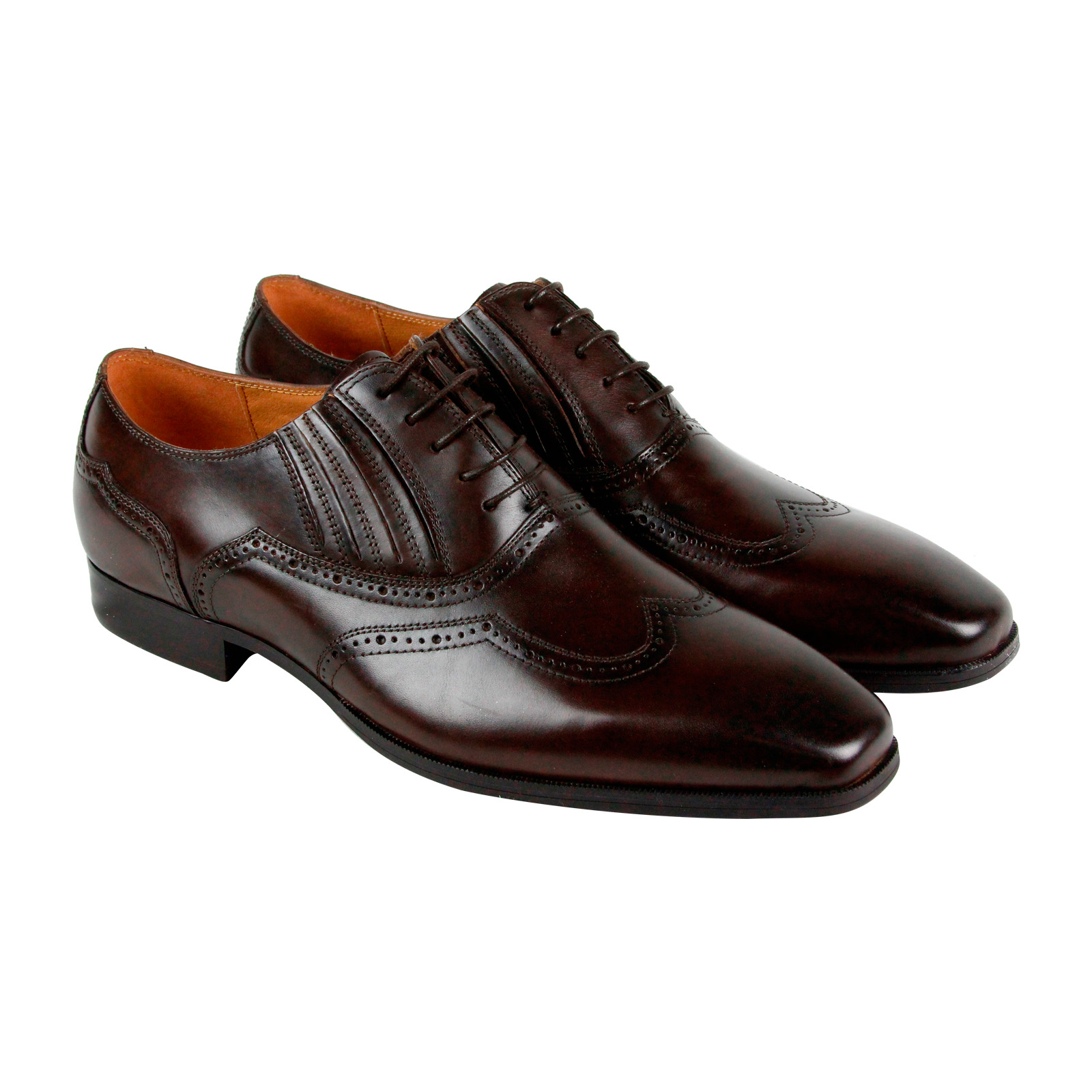 Steve-Madden-Masque-Mens-Brown-Leather-Casual-Dress-Lace-Up-Oxfords-Shoes-10-5