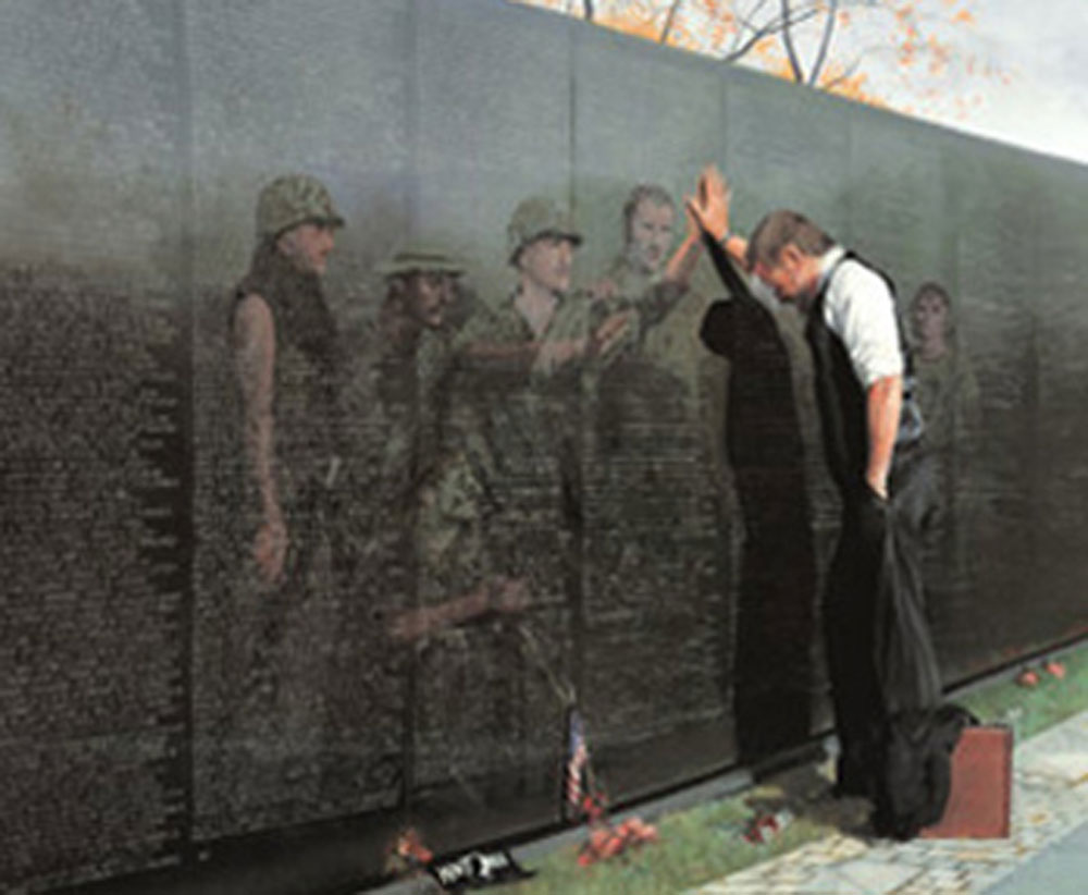 Reflections Lee Teter Military Vietnam Memorial Wall ...