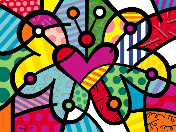 Romero Britto Abstract Art Prints from Dealers & Resellers | eBay