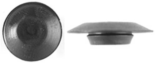 Quot black plastic flush type hole plugs head ebay