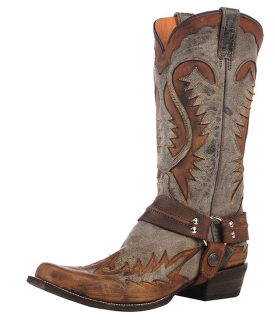 Stetson Men's Western Cowboy Leather Boots Outlaw Toe 0592 Brown Medium at Sears.com