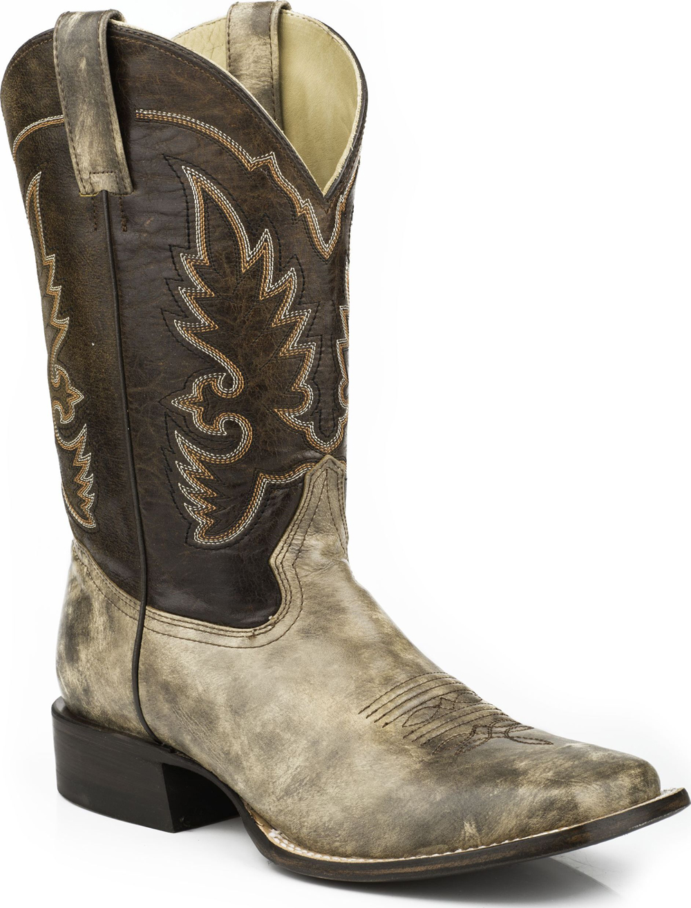Stetson Men's Western Cowboy Boots Square Toe 0667 Beige Wide at Sears.com