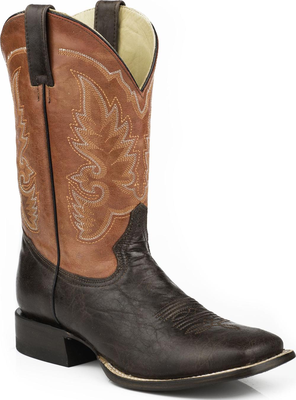 Stetson Men's Western Cowboy Boots Square Toe 0668 Orange Wide (E,W) at Sears.com