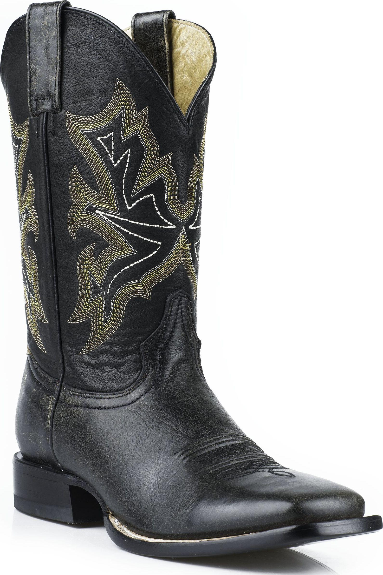 Stetson Men's Western Cowboy Boots Square Toe 0866 Black Medium (D, M) at Sears.com