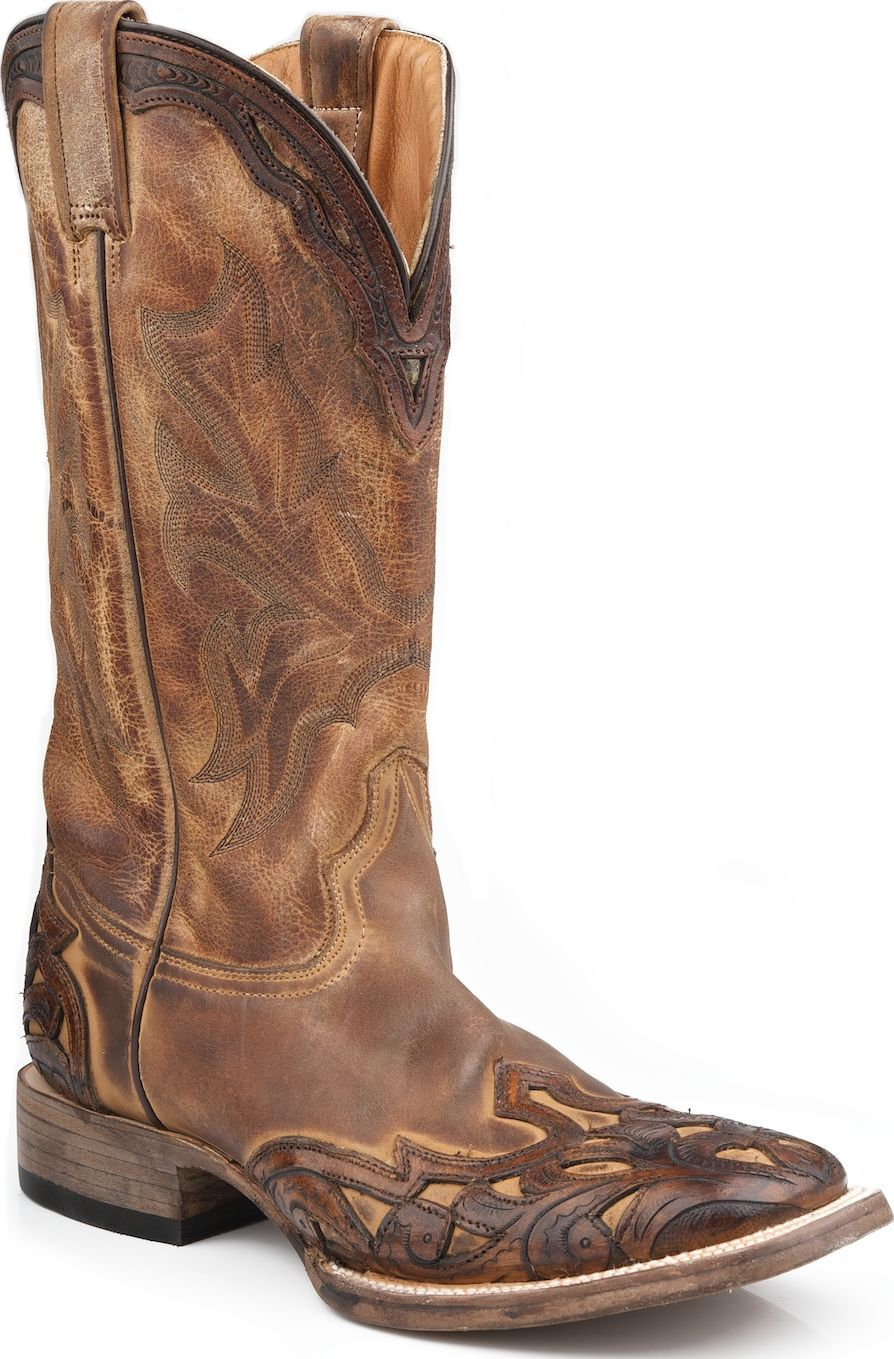 Stetson Mens Western Cowboy Boots Square Toe Crown 0750 Brown Medium (D, M) at Sears.com