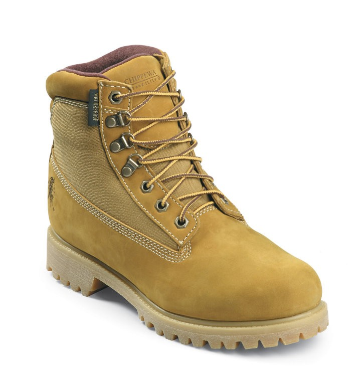 "Chippewa Men's 6"" Insulated Boots Plain Toe Beige Nubuc Leather 24514 (D, M) at Sears.com"