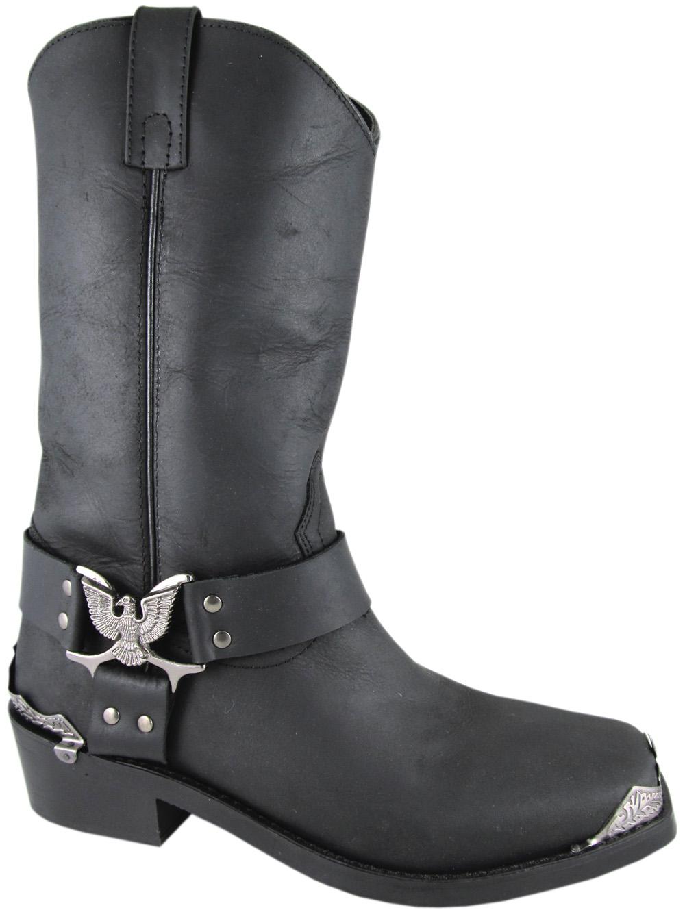 Smoky Mountain Men's Smoky Mountain Miami Leather Harness Riding Boot Black 4602