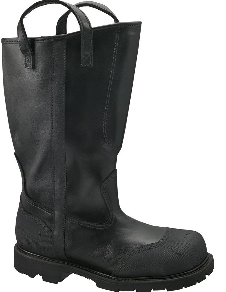 "Thorogood Women's Thorogood 14"" Fire Fighting Boots Oblique Toe (C,D,W) Black 504-6373"
