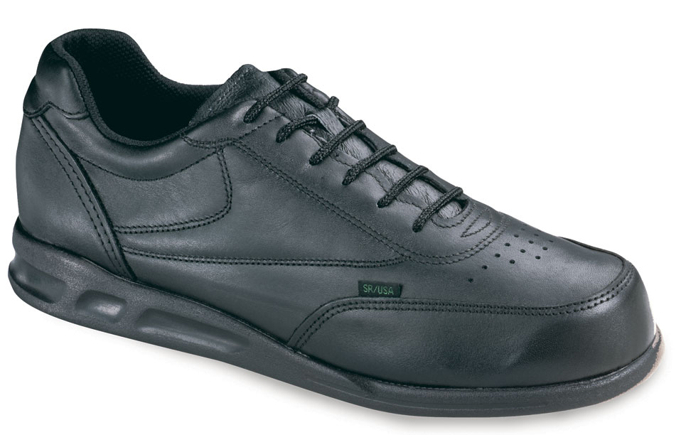 Thorogood Women's Thorogood Slip Resisting Athletic Double Track Oxfords Black Leather Wide (C,D,W) 534-6501 at Sears.com