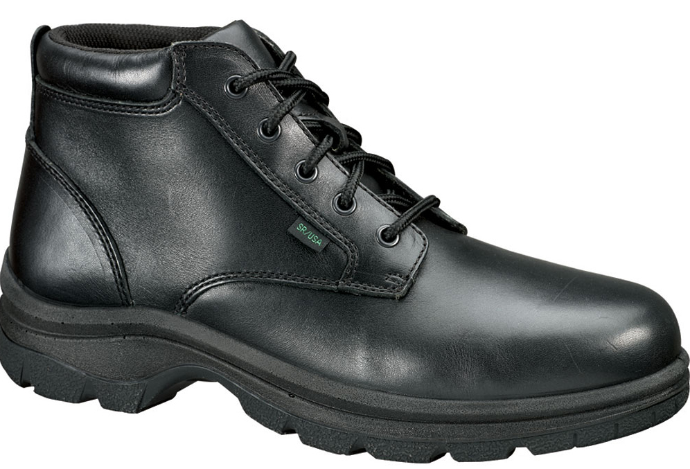 Thorogood Women's Thorogood Slip Resisting Athletic Double Track Oxfords Black Leather Wide (C,D,W) 534-6906 at Sears.com