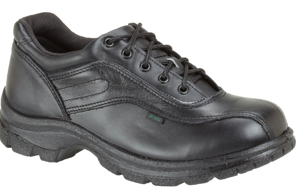 Thorogood Women's Thorogood Slip Resisting Athletic Double Track Oxfords Black Leather Wide (C,D,W) 534-6908 at Sears.com