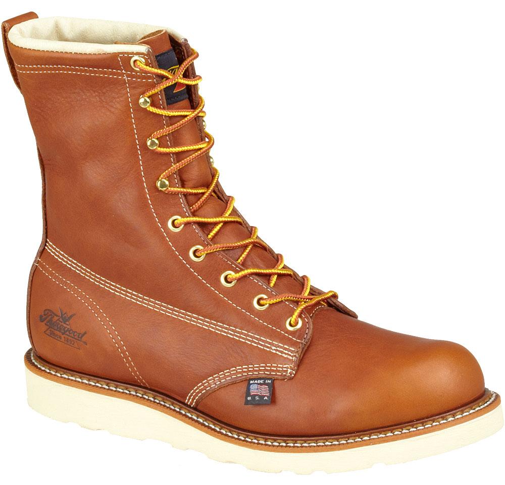 "Thorogood Mens Work Boots Thorogood 8"" Plain Safety Toe Brown (E,W) 804-4364 at Sears.com"