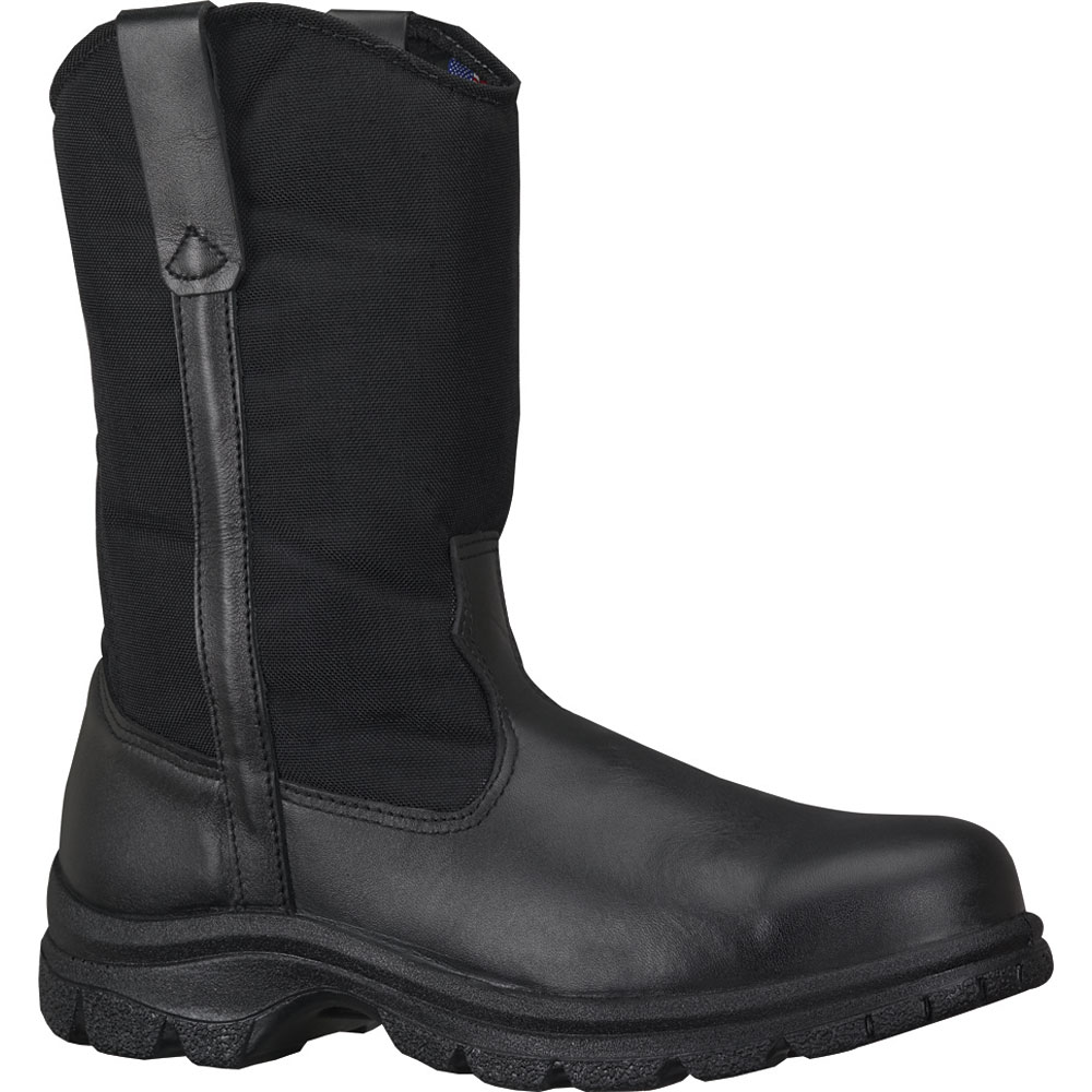 "Thorogood Men's Pull On Resistant Thorogood 10"" Wellington Safety Toe Black Leather Medium (D, M) 804-6111 at Sears.com"