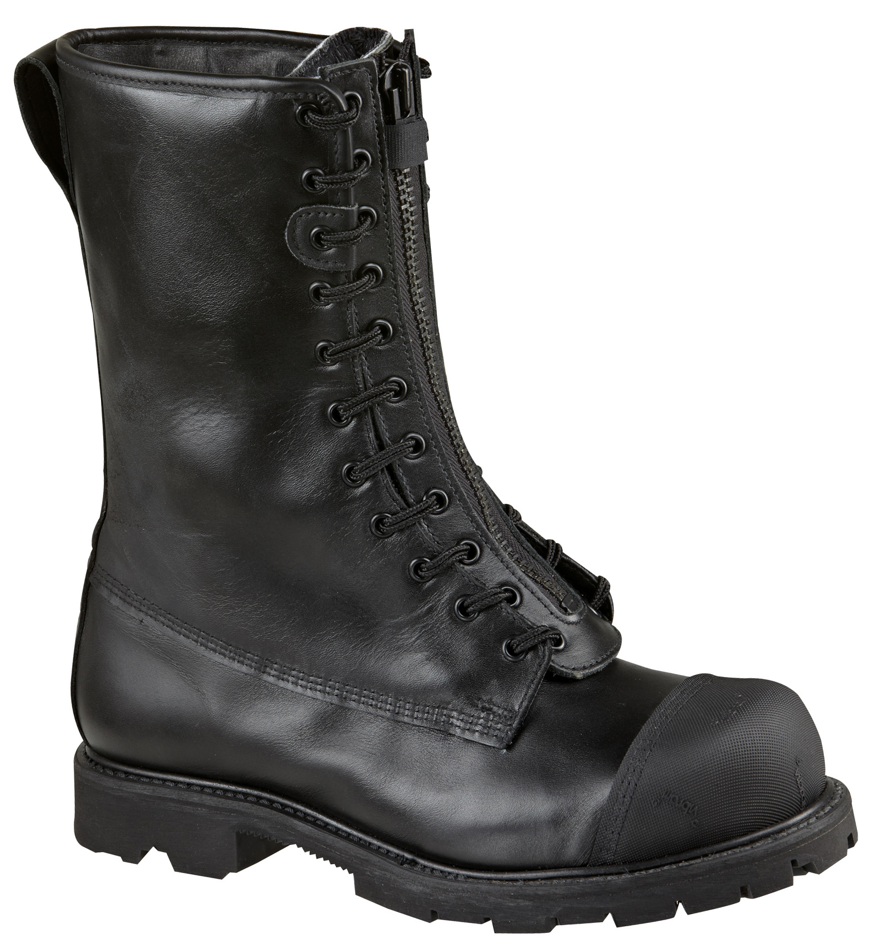 "Thorogood Men's Lace Up Zip Resistant Thorogood 10"" Wildland Fire Boot Black Leather Extra-Wide (EEE) 804-6391 at Sears.com"
