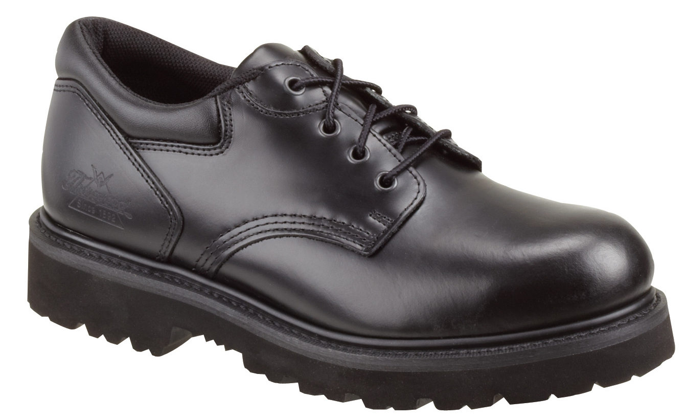 Thorogood Men's Thorogood Uniform Work Shoes Safety Toe Academy Oxfords Leather Medium (D, M) Black 804-6449 at Sears.com