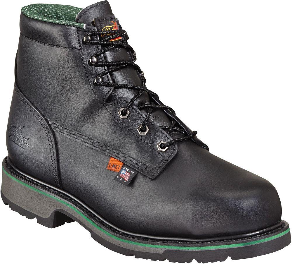 "Thorogood Men's Thorogood USA Made 6"" Metatarsal Safety Toe Work Boot Wide 804-6511"
