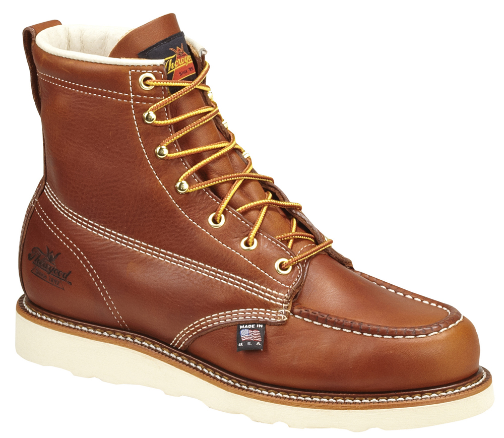 """Thorogood Men's Thorogood Work Boots 6"""" Moc Toe Oil-Tanned Leather (E,W) Brown 814-4200 at Sears.com"""