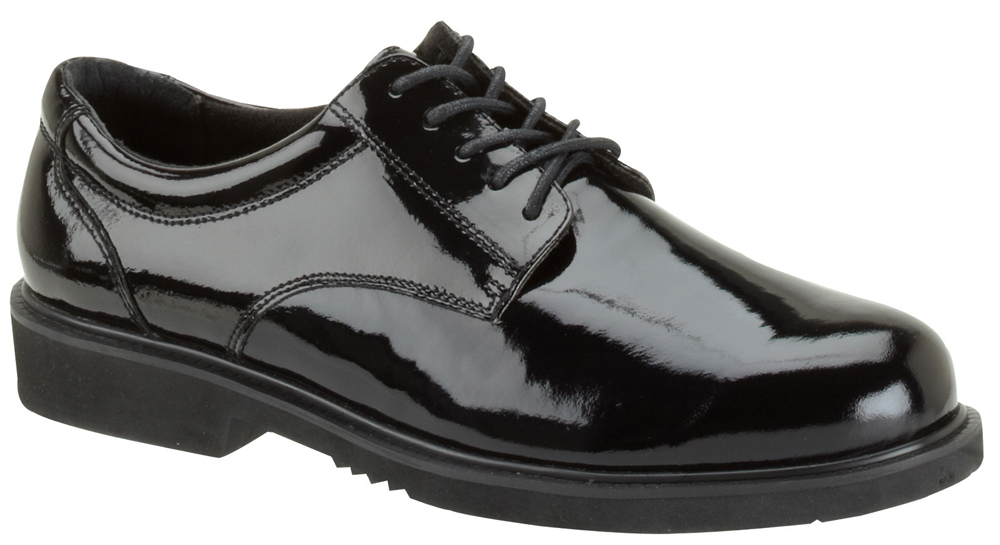 Thorogood Men's Thorogood Work Shoes Poromeric Academy Oxfords (EE+) Black 831-6031