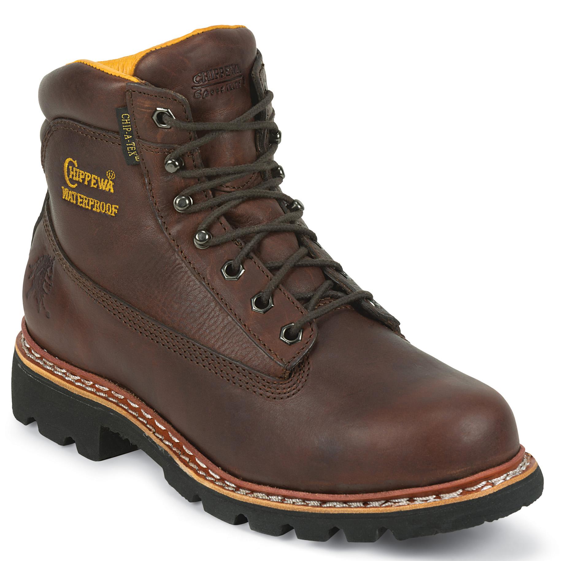 Chippewa Chippewa Mens 6-Inch Norwegian Welt Boot Waterproof Rated Brown 25945