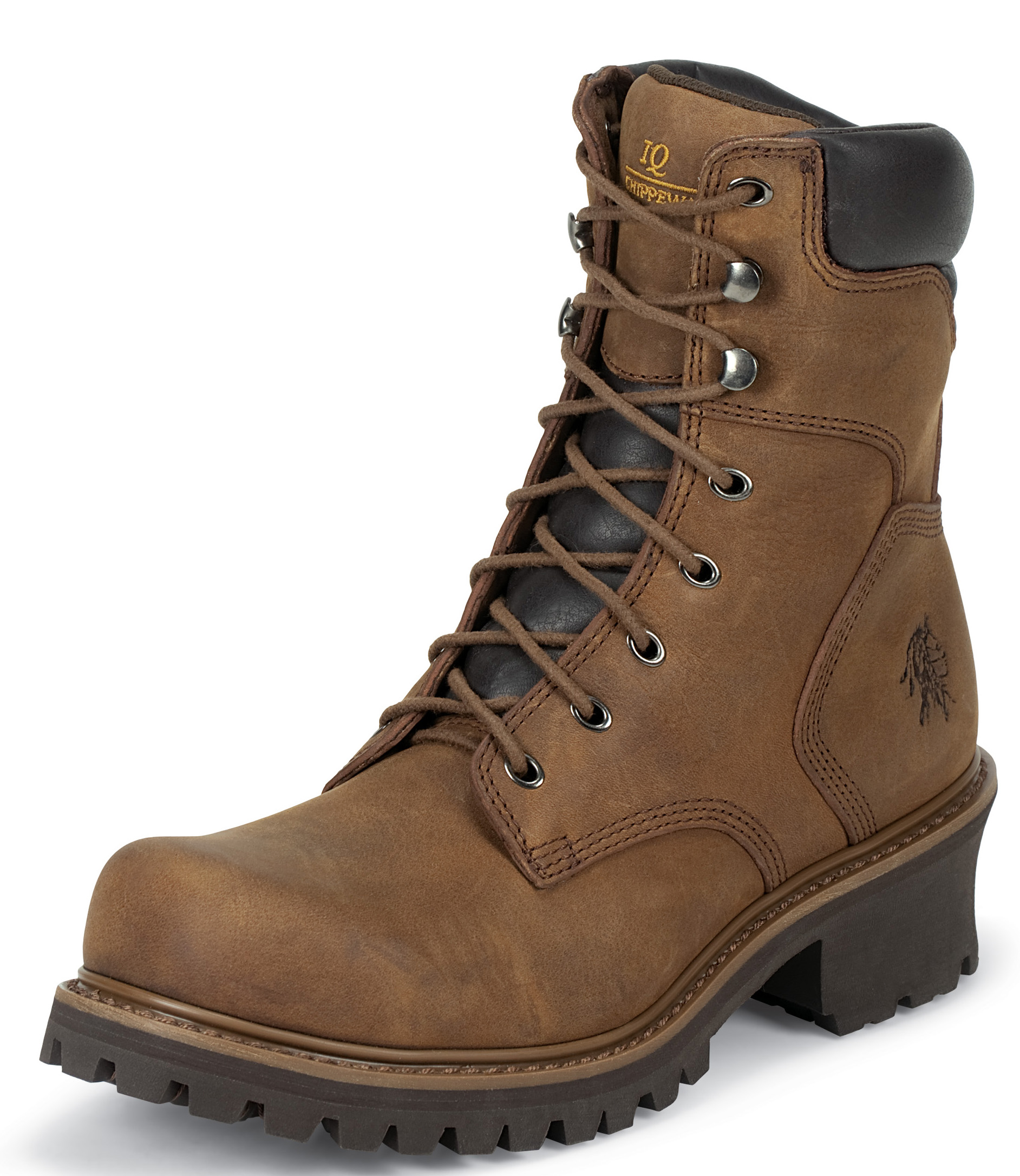 """Chippewa Men's 8"""" Insulated Boot Steel Toe Brown Leather 55025 (EE+) at Sears.com"""