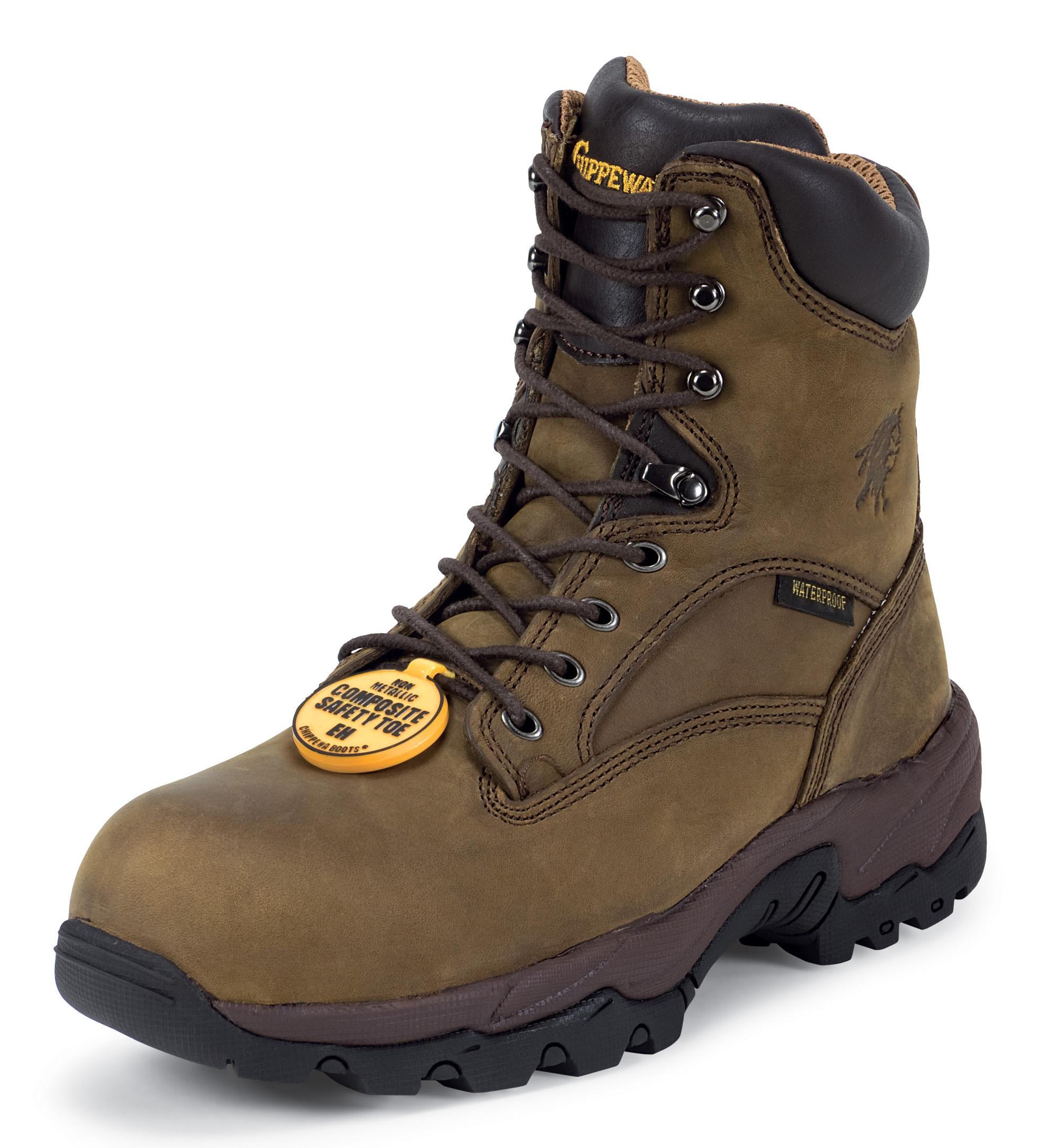 "Chippewa Men's 8"" Bay Apache Comp Toe Brown Nubuc Leather 55168 (D, M) at Sears.com"
