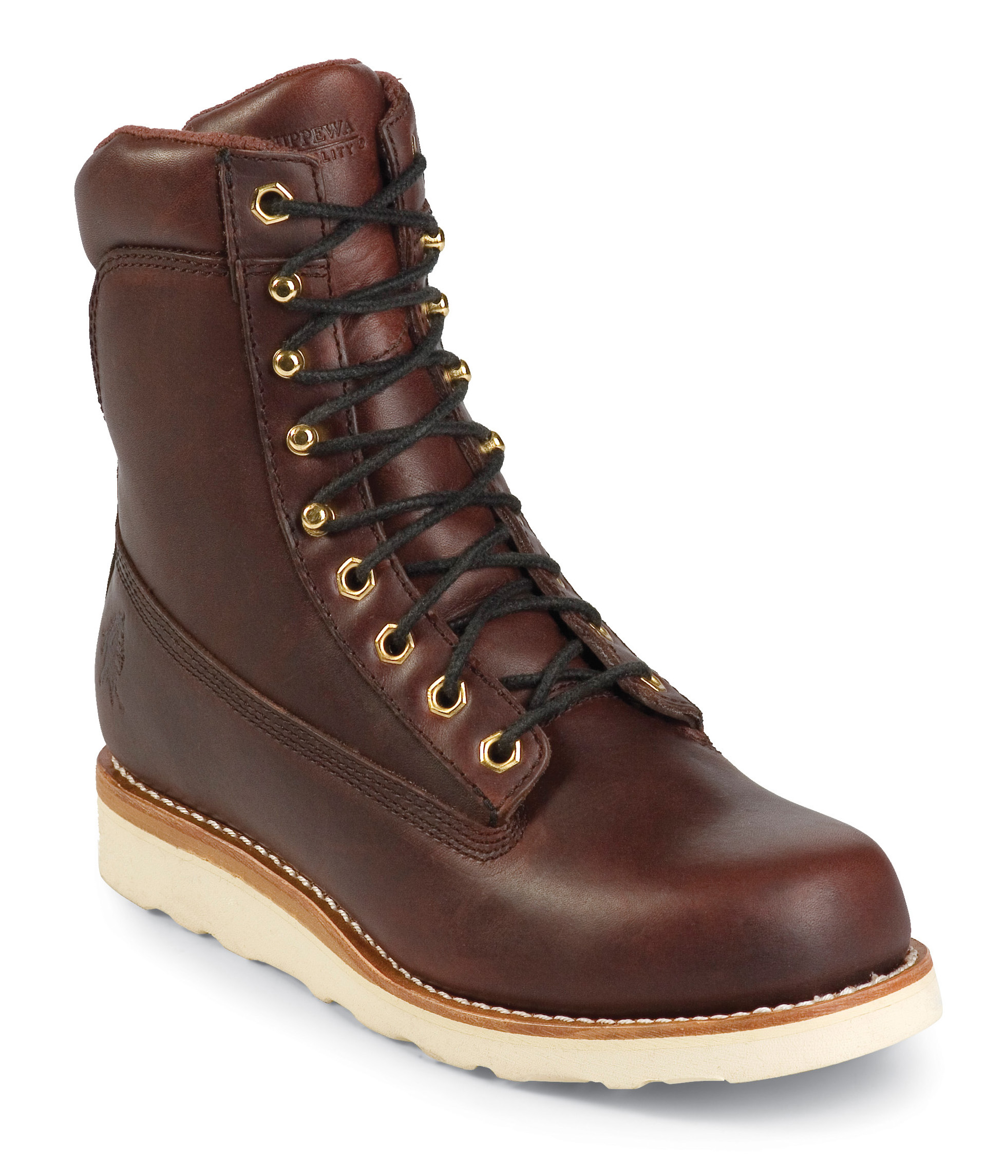 "Chippewa Men's Chippewa Utility Wedge Work Boots 8"" Oiled Redwood Leather 72055 (EE) at Sears.com"