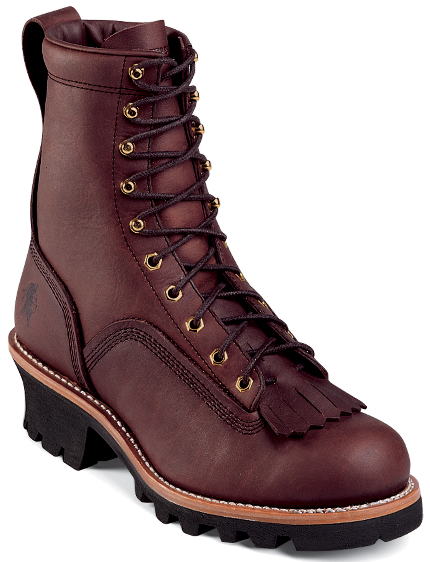 Chippewa Men's Chippewa 8-Inch Lace-To-Toe Logger Oiled Redwood Leather 73075 (E,W) at Sears.com