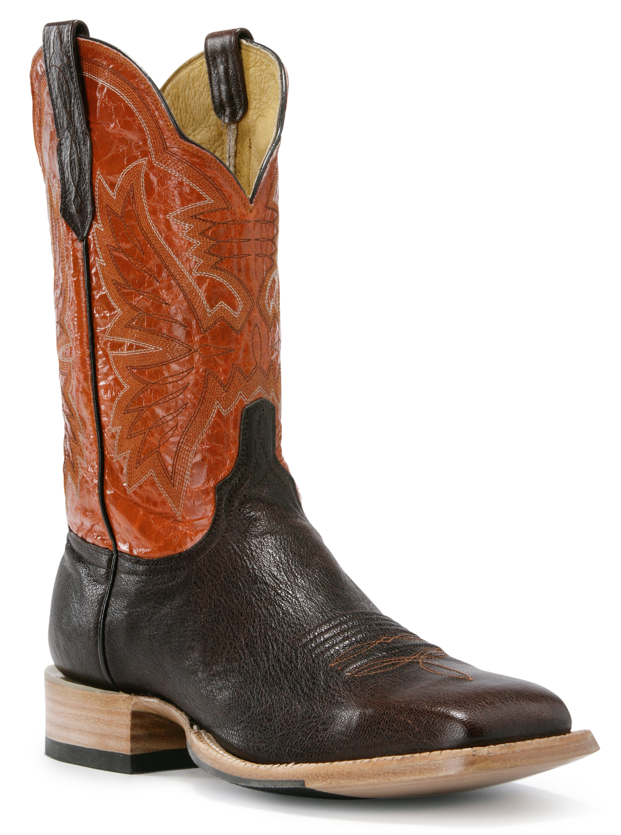 Cinch Western Boots Mens Cowboy Calfskin Leather Square Toe Brown CFM101 (2E) at Sears.com