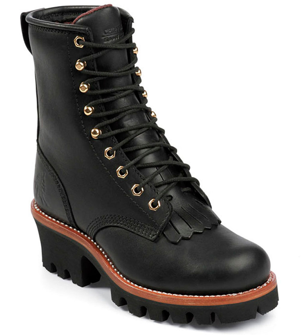 Chippewa Women's Chippewa Insulated Logger Boot Black Leather L73045 (C,D,W)